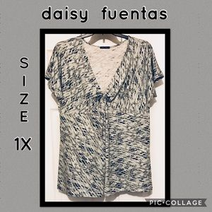 Daisy Fuentes knotted front tunic